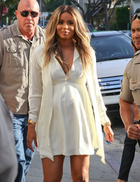 Photos] Ciara Emerges At Charity Event Looking Very Pregnant ...