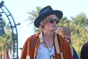 Celebrities at Day 3 of first weekend of The Coachella Valley Music and Arts Festival in Indio, California on April 11, 2015.<br /> Pictured: Gigi Hadid, Cody Simpson