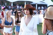 Celebrities at Day 3 of first weekend of The Coachella Valley Music and Arts Festival in Indio, California on April 11, 2015.<br /> Pictured: Eiza Gonzalez