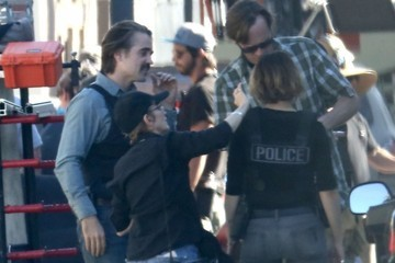 Colin Farrell Stars Filming 'True Detective' In Los Angeles