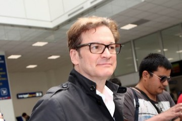 Colin Firth Colin Firth Lands at Nice Airport for Cannes