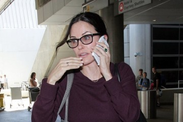 Courteney Cox Courteney Cox Arrives at LAX Airport