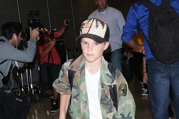 Cruz Beckham David Beckham & Family Depart From LAX Airport