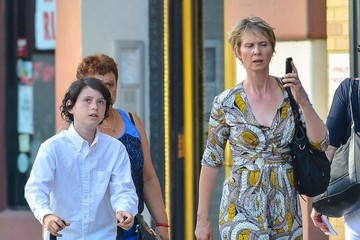 Cynthia Nixon Cynthia Nixon Spends the Day with Her Sons