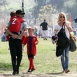 Darby Dempsey Patrick Dempsey and Jillian Fink Attend Their Sons' Soccer Game