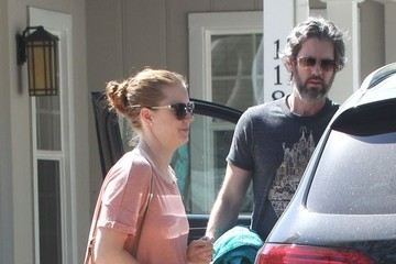 Darren Le Gallo Amy Adams & Family Out And About In Studio City