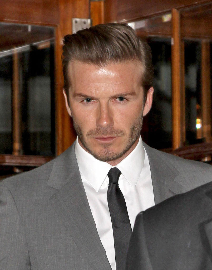 David beckham in david beckham leaves the connaught hotel - David beckham ...