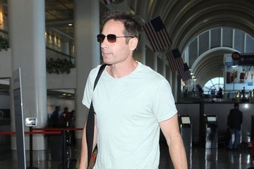 David Duchovny David Duchovny Departing On A Flight At LAX Airport