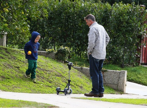 David Eigenberg Takes A Stroll With His Son