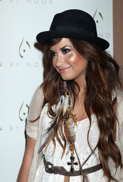 Demi Lovato Celebrities attend the Noon By Noor launch event at Sunset Tower in West Hollywood.