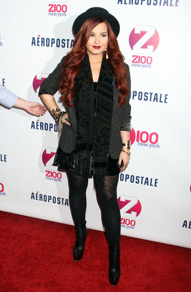 Demi Lovato Celebrities at Z100's Jingle Ball 2011 in New York City, NY... Picture Shows: Demi Lovato