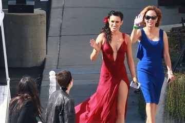 Demi Moore Tallulah Willis Celebs at the 'Dancing With the Stars' Studio