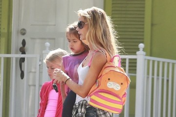 Denise Richards Eloise Richards Denise Richards and Rebecca Gayheart Pick Up Their Girls