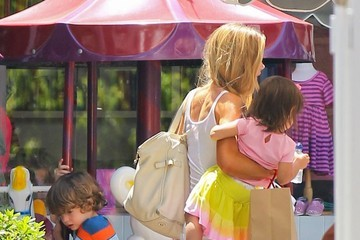 Denise Richards Max Sheen Denise Richards Spends the Day with Her Kids