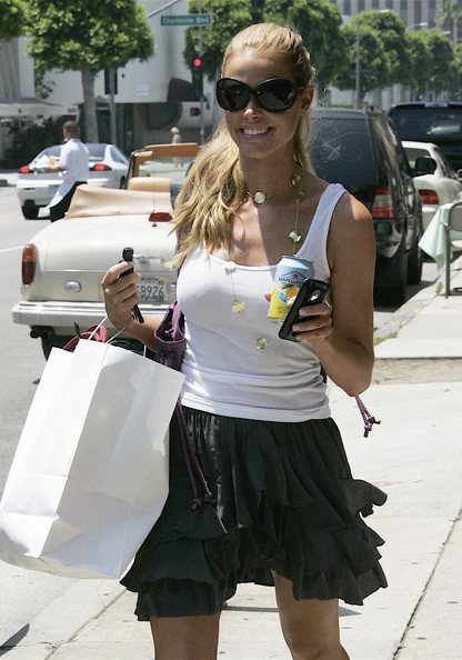 Actress Denise Richards is seen shopping in Beverly HIlls.