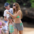 Irv Richards Denise Richards Spends New Years Even On The Beach In Maui