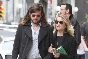 Dianna Agron Dianna Agron and Winston Marshall Step Out for a Stroll