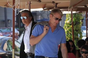 Dolph Lundgren Dolph Lundgren Grabs Lunch With a Group of Friends