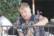 Dolph Lundgren Out for Lunch