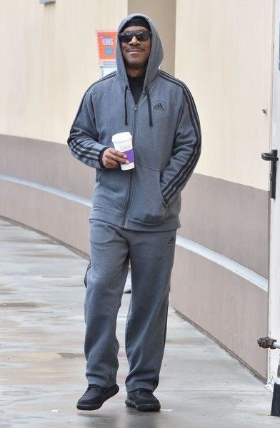 Eddie Murphy Stops for His Morning Coffee