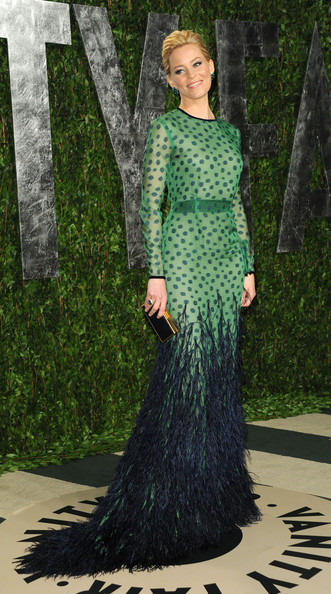 Elizabeth Banks Celebrities at the 2012 Vanity Fair Oscar Party at the ...
