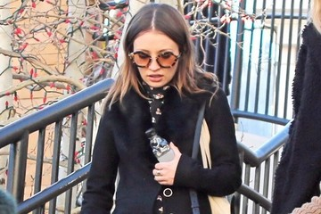 Emily Browning Celebs Enjoy the Sunshine at Sundance
