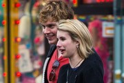 Emma Roberts and Evan Peters Shop in NYC