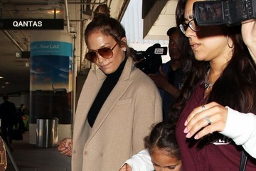 Emme Muniz Jennifer Lopez Arrives at LAX Airport