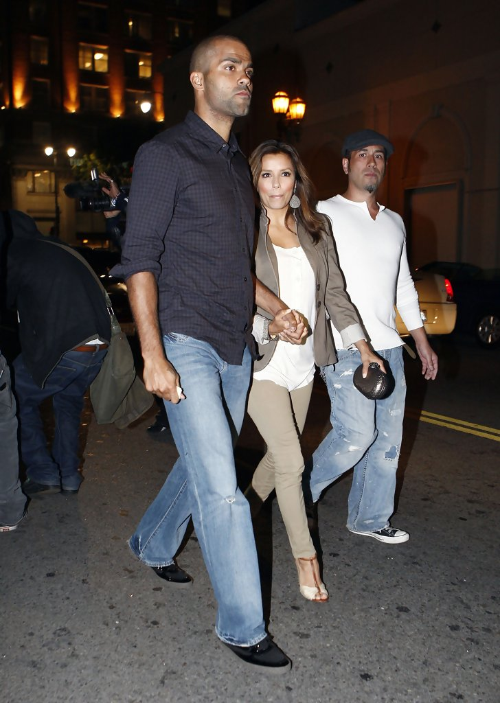 Eva Longoria Parker & Husband Leaving Beso Restaurant - Zimbio
