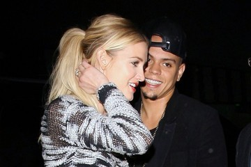 Evan Ross Celebrities Dine Out At Mr Chow