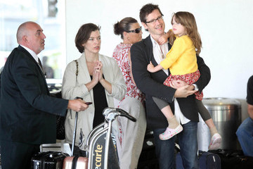 Ever Anderson Milla Jovovich and Her Family at LAX