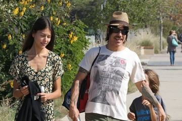 Everly Kiedis Anthony Kiedis & Helena Vestergaard Out With His Son Everly