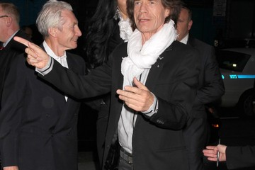 Mick Jagger Charlie Watts 'Exile On Main Street' New York Premiere