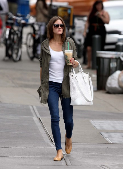 Olivia Palermo looked super fine in a white top and form-fitting blue jeans as she shopped at Fairway then grabbed a Starbucks to go in Brooklyn, NY on May 30th, 2012.