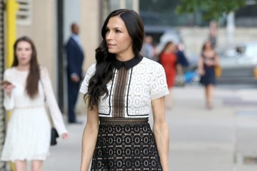 Famke Janssen Famke Janssen Spotted Out And About In NYC
