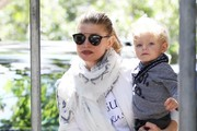 Fergie Takes Her Son to the Park