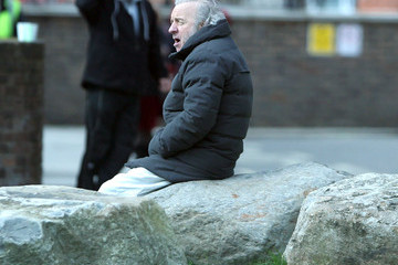 "Colm Wilkinson Hugh Jackman As Jean Valjean On Set Of ""Les Miserables"""