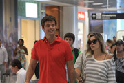 Brazilian actress Flavia Alessandra and her husband, also actor and TV presenter, Otaviano Costa, were seen departing together the Santos Dumont airport in Rio de Janeiro.