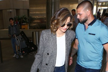 Flynn Bloom Miranda Kerr Touches Down At LAX With Evan Spiegel