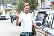 Gwen Stefani's ex Gavin Rossdale is seen out with his son Zuma Rossdale in Los Angeles, California on November 19, 2016.