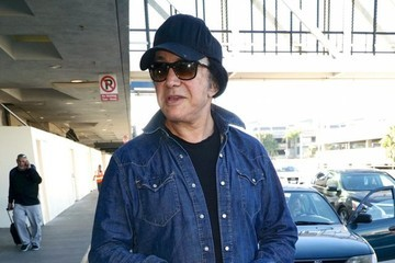 Gene Simmons Gene Simmons & Daughter Sophie Arriving On A Flight At LAX