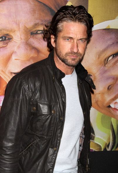 Gerard Butler Celebrities at Global Poverty Project Premieres 1.4 Billion Reasons at the Museum Of Modern Art In New York City, NY.