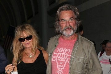 Goldie Hawn Kurt Russell and Goldie Hawn Arrive in LA