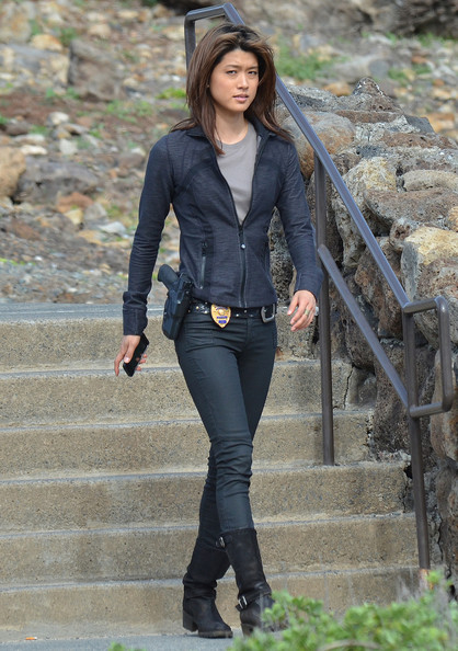 Grace Park on the Set of 'Hawaii Five-O' (Grace Park)