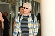 Graham Nash Arriving On A Flight At LAX