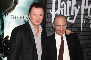 Ralph Fiennes Liam Neeson Harry Potter And The Deathly Hallows: Part 1 New York Premiere