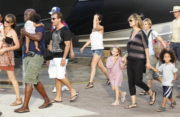 heidi klum and seal and family. Heidi Klum, Seal and their