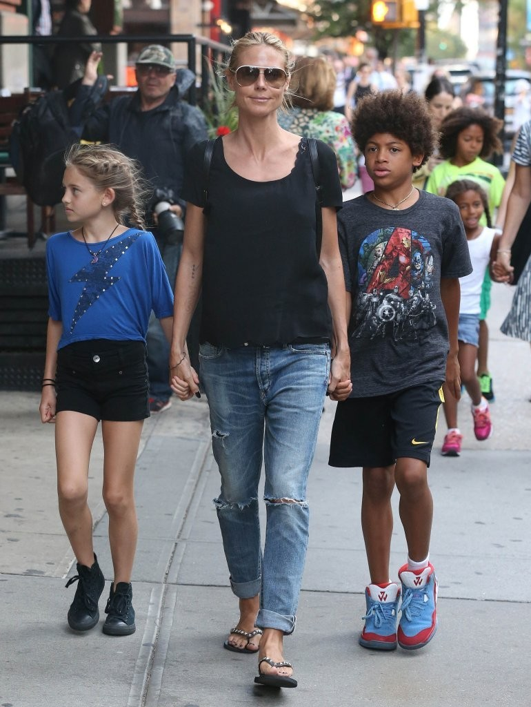 Photos photos heidi klum out in nyc with her children zimbio