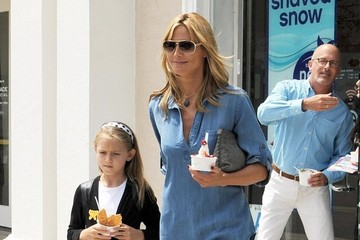 Heidi Klum Heidi Klum Takes Her Kids Out For Pinkberry