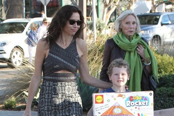 Henry Driver Minnie Driver & Son Shopping In Malibu